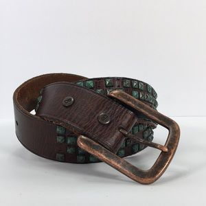 Other - Bill Adler 36 copper studded leather belt
